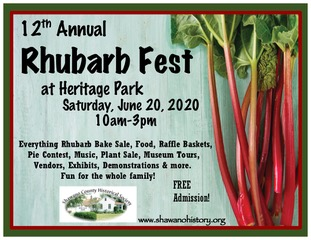 Describes what is going on during Rhubarb Fest on June 20, 2020